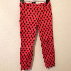 "J. Crew ""Minnie"" coral cropped pants"